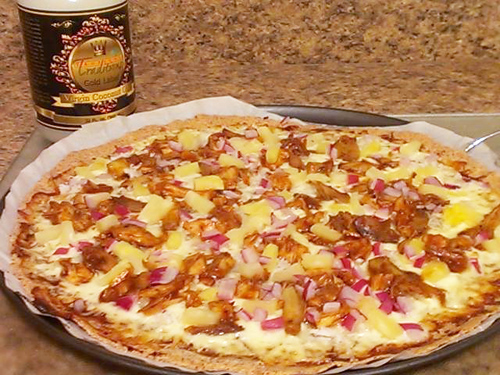 Gluten Free Tropical BBQ Pizza Recipe photo