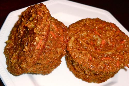 Apple Coconut Carrot Bran Muffins