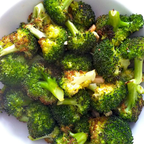 Lemon Garlic Roasted Broccoli
