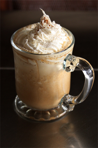 Iced Coconut Pumpkin Latté Recipe Photo