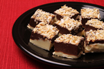 Black & White Toasted Coconut Fudge