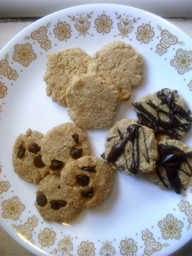 Chewy Peanut Butter Coconut Macaroon Discs