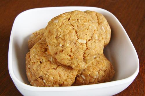 Gluten Free Peanut Butter Coconut Cookies