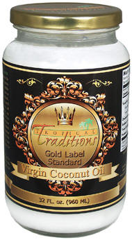 Gold Label Virgin Coconut Oil used in Gluten Free Coconut Recipes