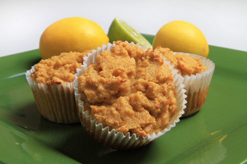Gluten Free Lemon Lime Coconut Flour Muffins Recipe Photo