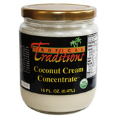 Organic Coconut Cream Concentrate used in Gluten Free Coconut Recipes