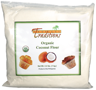 Organic Coconut Flour used in Gluten Free Coconut Recipes