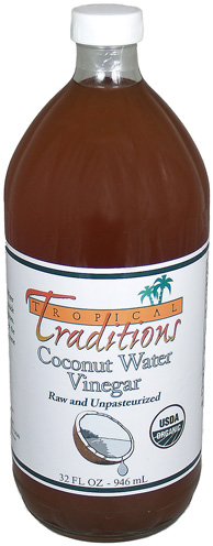 Tropical Traditions Organic Coconut Water Vinegar - 32 oz.