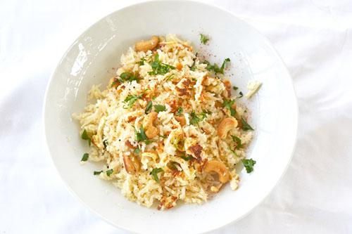 Coconut Cashew Rice