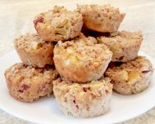 Gluten Free Apple Almond Cinnamon Oatmeal Muffins