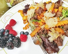 Butternut Squash and Bison Sausage Hash