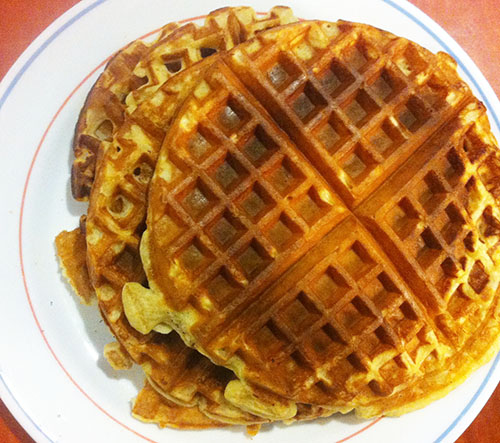 Whole Wheat Waffles with Coconut Oil