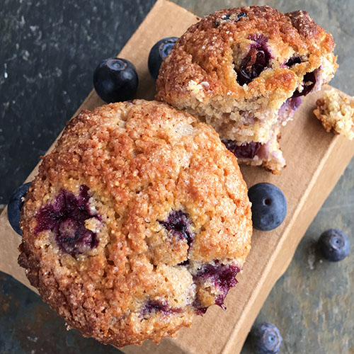 Blissful Blueberry Muffins