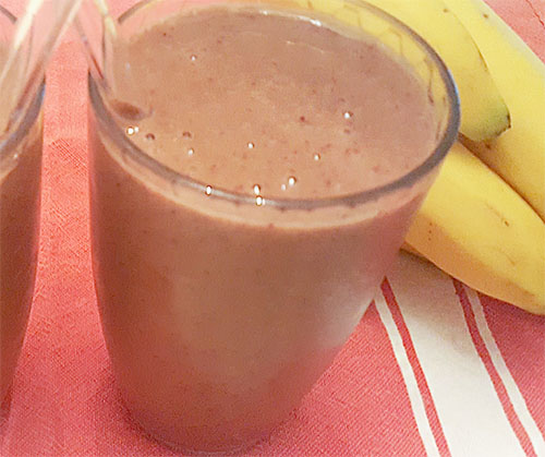 Coconut Cherry Banana Smoothie