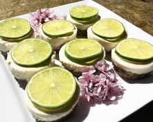 Exceptionally Tangy No Bake Gluten Free Mini Lime Cheesecakes
