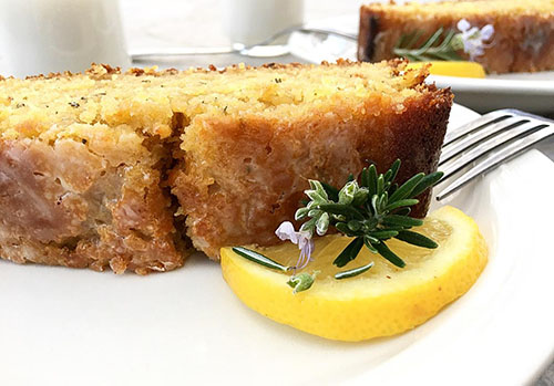 Lemon Rosemary and Yogurt Cake