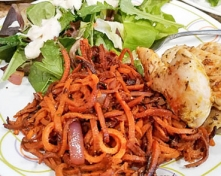 Spiced Sweet Potato Spirals