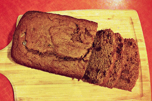 Whole Wheat Chocolate Chip Pumpkin Bread