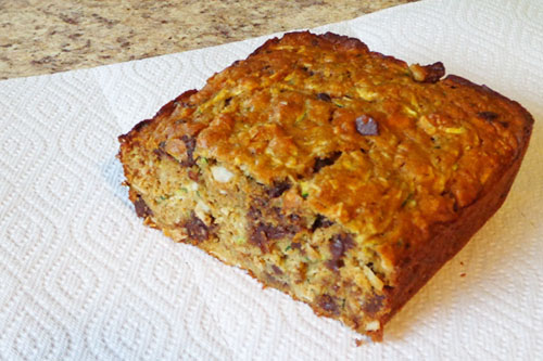 Coconut Chocolate Chip Zucchini Bread