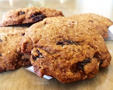 Sprouted Flax and Raisin Cookies