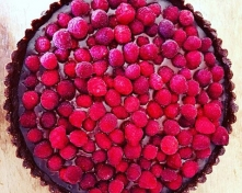 Almond Flour Raspberry Coconut Chocolate Tart