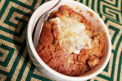Coconut Flour Peach Cobbler
