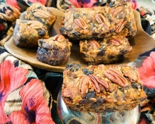 Gluten Free Tropical Pina-Coco-Nut Fruitcake