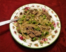 Stir Fried Beef and Asparagus in Orange Sauce