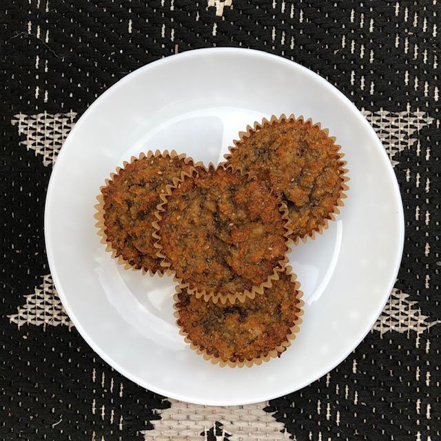 Gluten Free Cinnamon Chia Banana Muffins